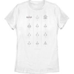 Assassin's Creed Symbols of the Creed Ladies T-Shirt Fifth Sun GameStop found on Bargain Bro India from Game Stop US for $21.99