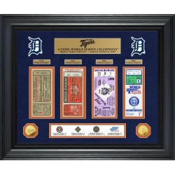 Detroit Tigers World Series Deluxe Gold Coin and Ticket Collection Highland Mint GameStop found on Bargain Bro from Game Stop US for USD $189.99
