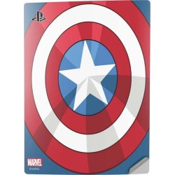 Captain America Emblem Console Skin for PlayStation 5 Digital Edition found on GamingScroll.com from Game Stop US for $24.99