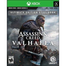 Assassin's Creed Valhalla Ultimate Edition Steelbook Only at GameStop Xbox One Ubisoft Pre-Order At GameStop Now!