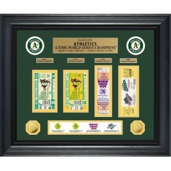 Oakland Athletics World Series Deluxe Gold Coin and Ticket Collection Highland Mint GameStop found on Bargain Bro from Game Stop US for USD $189.99