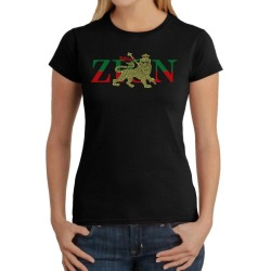 Zion One Love Lion Word Art Ladies T-Shirt LA Pop Art GameStop found on Bargain Bro India from Game Stop US for $15.99