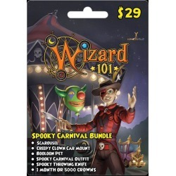 Wizard 101 Spooky Carnival Bundle Digital Card PC InComm Available At GameStop Now!