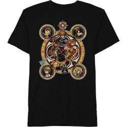 Hybrid Promotions, LLC Kingdom Hearts Ornate Faces T-Shirt Available At GameStop Now!