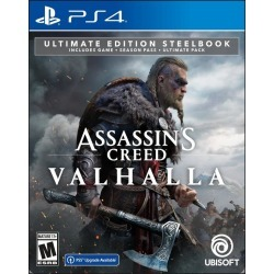 Assassin's Creed Valhalla Ultimate Edition Steelbook Only at GameStop PS4 Ubisoft Pre-Order At GameStop Now!