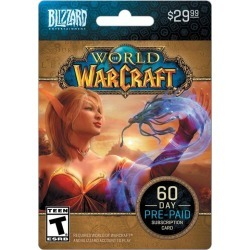 Blizzard World of Warcraft 60 Day Time Card PC Activision Available At GameStop Now!