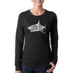 List of Shark Species Shark Word Art Ladies Long Sleeve T-Shirt LA Pop Art GameStop found on Bargain Bro India from Game Stop US for $19.99