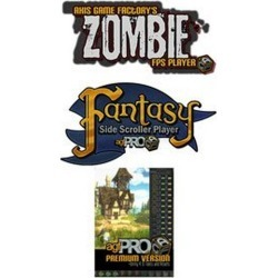 Axis Game Factory, LLC Digital Axis Game Factory Pro + Zombie FPS + Fantasy Side-Scroller Bundle PC Download Now At GameStop.com!
