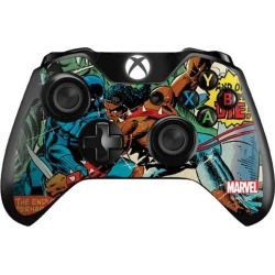 Black Panther Jungle Action Controller Skin for Xbox One Xbox One Accessories Microsoft GameStop