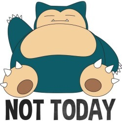 Hybrid Promotions, LLC Pokemon Snorlax Not Today T-Shirt Available At GameStop Now!