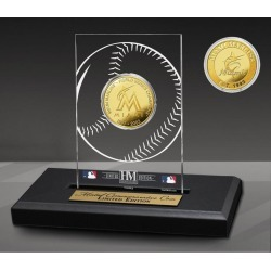 Miami Marlins 2 Time Champions Acrylic Gold Coin Highland Mint GameStop found on Bargain Bro from Game Stop US for USD $37.99