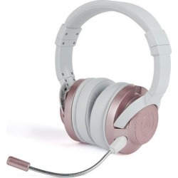 FUSION Rose Gold Wired Gaming Headset PC PowerA Available At GameStop Now!