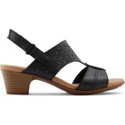 7289866718 Clarks Wicoredda - Women's Footwear Sandals Heels - Black found on MODAPINS  from GLOBO Shoes for