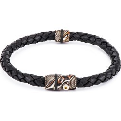 William Henry Venus Leather Braided Bracelet