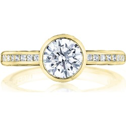 Tacori 301-25RD7-75 Starlit Channel Set Yellow Gold Engagement Setting found on Bargain Bro India from J.R. Dunn Jewelers for $3260.00