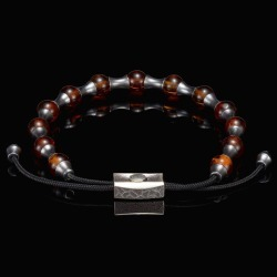 William Henry Amber Summit Adjustable Bead Bracelet