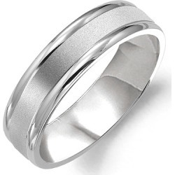Crown Ring Classic Matte Center Men's Wedding Band found on MODAPINS from J.R. Dunn Jewelers for USD $710.00