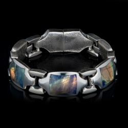 William Henry Retro Labradorite Sterling Silver Bracelet