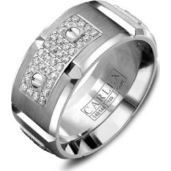 Crown Ring Carlex Diamond Link Inlay Men's Wedding Band found on MODAPINS from J.R. Dunn Jewelers for USD $4495.00