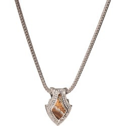 William Henry Silver Pike Shield Necklace