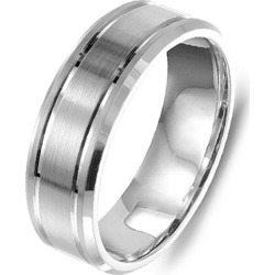 Crown Ring Classic Brushed Finish Men's Wedding Band found on MODAPINS from J.R. Dunn Jewelers for USD $850.00