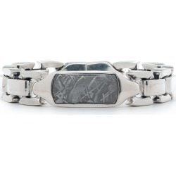 William Henry Silver and Meteorite ID Bracelet