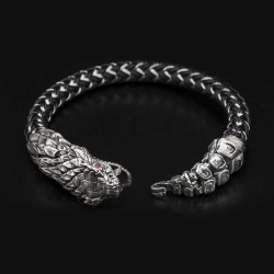 William Henry Full Circle Snake Cord Bracelet