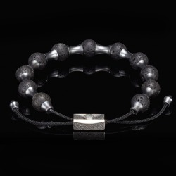 William Henry Lava Zenith Adjustable Bead Bracelet