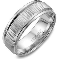 Crown Ring Carved Etched Center Men's Wedding Band found on MODAPINS from J.R. Dunn Jewelers for USD $770.00