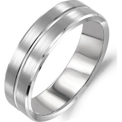 Crown Ring Classic Brushed Matte Finish Men's Wedding Band found on MODAPINS from J.R. Dunn Jewelers for USD $715.00