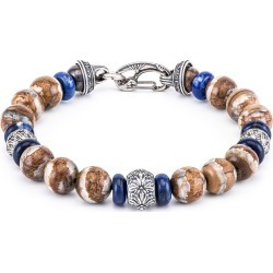William Henry Boots & Denim Fossilized Bead Bracelet