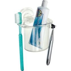 interDesign PowerLock Suction Razor and Toothbrush Center, Multicolor