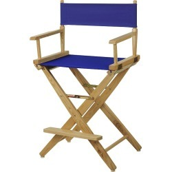 "Casual Home 24"" Director's Chair, Blue"