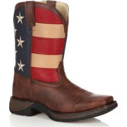 Lil Durango Kids' American Flag 8-in. Western Boots, Kids Unisex, Size: 6.5, Brown