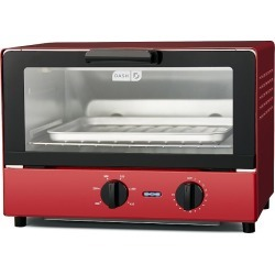 Dash Compact Toaster Oven, Red