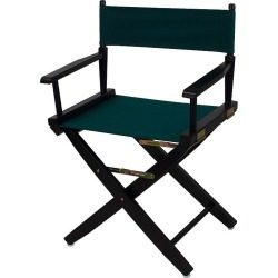 """Casual Home 18"""" Black Finish Director's Chair, Green"""