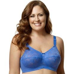 Plus Size Elila Bra: Lace Full-Figure Bra 1303, Women's, Size: 42H, Brt Blue