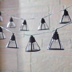 Smart Living Bente 20-Light LED Solar String Lights, Black