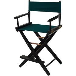 """Casual Home 24"""" Black Finish Director's Chair, Green"""