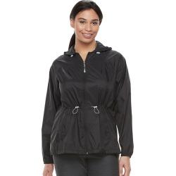 Plus Size Tek Gear® Hooded Anorak Windbreaker Jacket, Women's, Size: 2XL, Black
