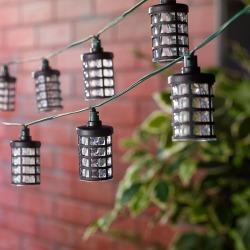 Smart Living Amalia 20-Light LED Solar String Lights, Black