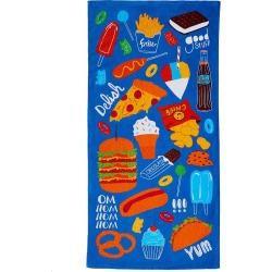 Jumping Beans® Junk Food Beach Towel, Multicolor