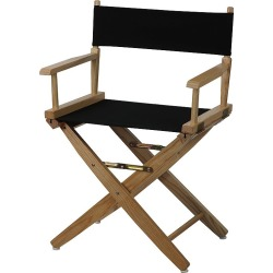 "Casual Home 18"" Director's Chair, Black"