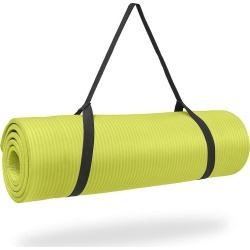 Deluxe Fitness Mat  Yellow