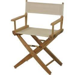 """Casual Home 18"""" Director's Chair, Beig/Green (Beig/Khaki)"""