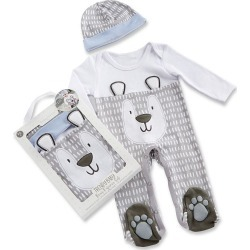 Baby Boy Baby Aspen Trendy Baby Bear 2-Piece Pajama Gift Set, Multicolor