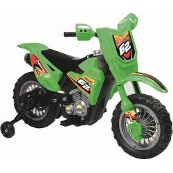 Green 6V Ride On Dirt Bike