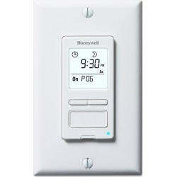 Honeywell ECONOSwitch Solar Programmable Light Switch Timer, White