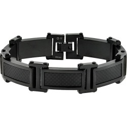 Steel Black Ion Bracelet