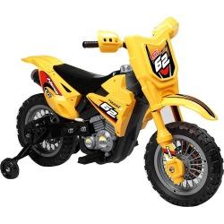 Yellow 6V Ride On Dirt Bike